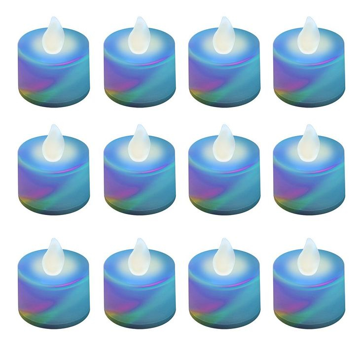 LumaBase 12-pk. LED Color-Changing Tealight Candles, Multicolor