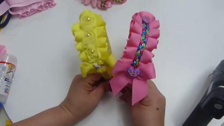 Diy. Diadema decorada con cinta plisada a mano paso a paso. Headband for...