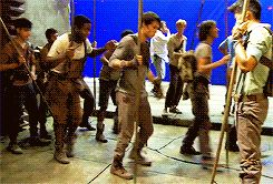 Come on Minho, you know you want to dance with the rest of the Maze Runner cast...
