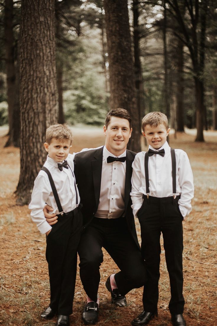 Black Boys Bow Tie Set Ring Bearer Outfit Page Boy Outfit Cake