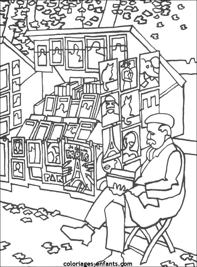 Cool French Coloring Book 16 French coloring pages even