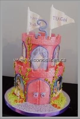 Princess Castle Pink Cake