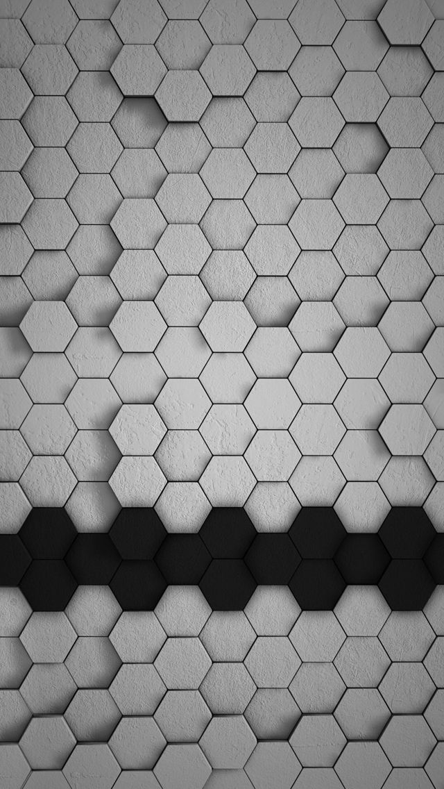 White Gray And Yellow D Tiles Iphone Wallpaper 640 1136 Wallpaper