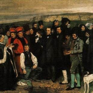 an analysis of burial at ornans by gustave courbet Gustave courbet, a burial at ornans, 1849-50, oil on canvas, 314 x 663 cm (1236 x 261 inches), musee d'orsay, paris exhibition at the 1850-1851 paris salon created an explosive reaction and brought courbet instant fame.