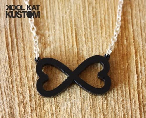 INFINITE LOVE Halskette Unendlich Herz Kette Infinity Unendlichkeit Necklace ♥ S | eBay