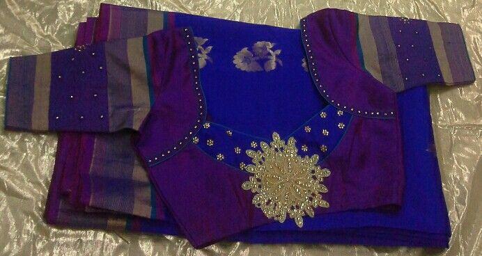 Uppada saree with pattern blouse 7702919644