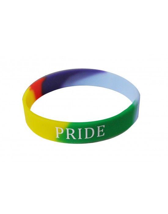 Gay Pride Silicone Wristband