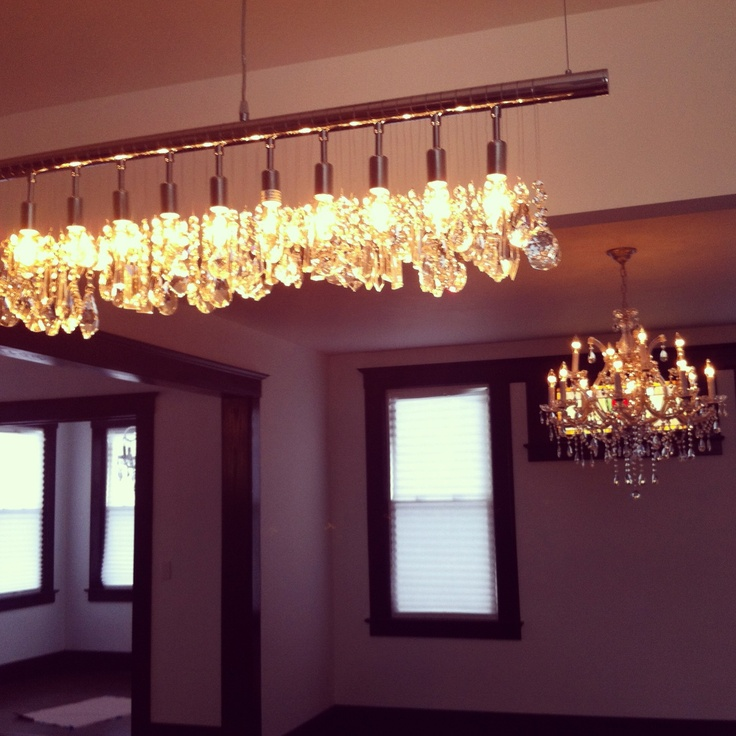 Just Installed My Linear Chandelier On Top Of My Kitchen Island! Looks  Great With The