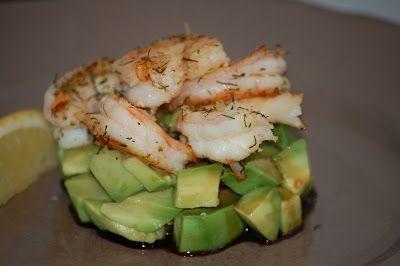 Onze Franse Keuken: Kerst 2012: Voorgerecht - Torentje van avocado & garnalen