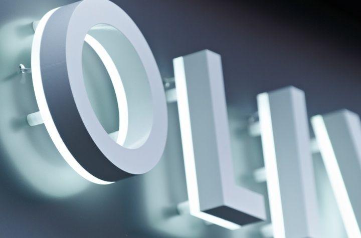 halo-illuminated letterforms