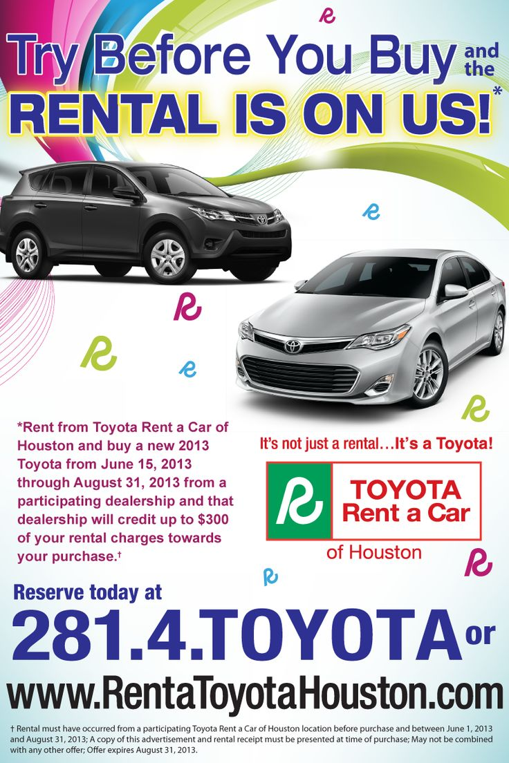 14 Best Images About Toyota Rent A Car On Pinterest