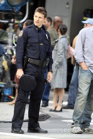 New York, NY 10-12-10 Will Estes on the set of Blue Blood TV Show Madison Ave and 81st Photo By Maggie Wilson-PHOTOlink.net