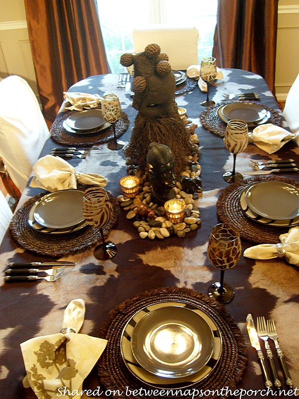 Between Naps on the Porch | Going on Safari: A Safari Themed Table Setting | http://betweennapsontheporch.net