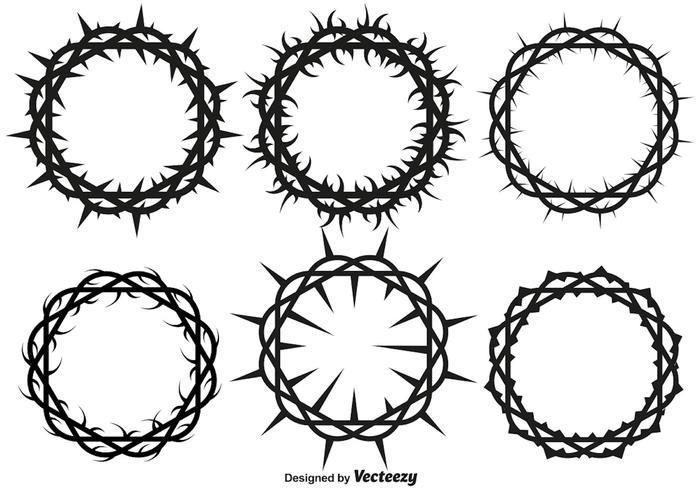 Coronas De Espinas Vectores Corona De Espinas Tatuaje De Corona Corona Dibujo