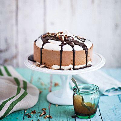 Glasstårta med choklad