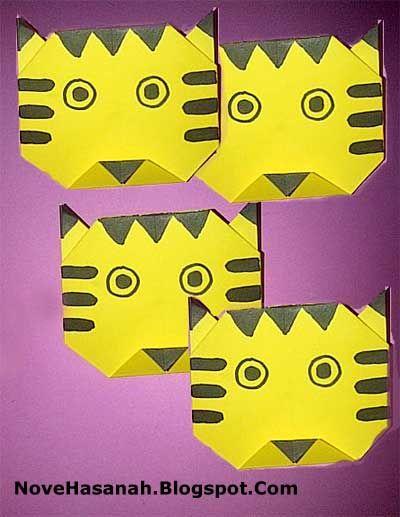 Nove Hasanah: Origami untuk Anak : Harimau