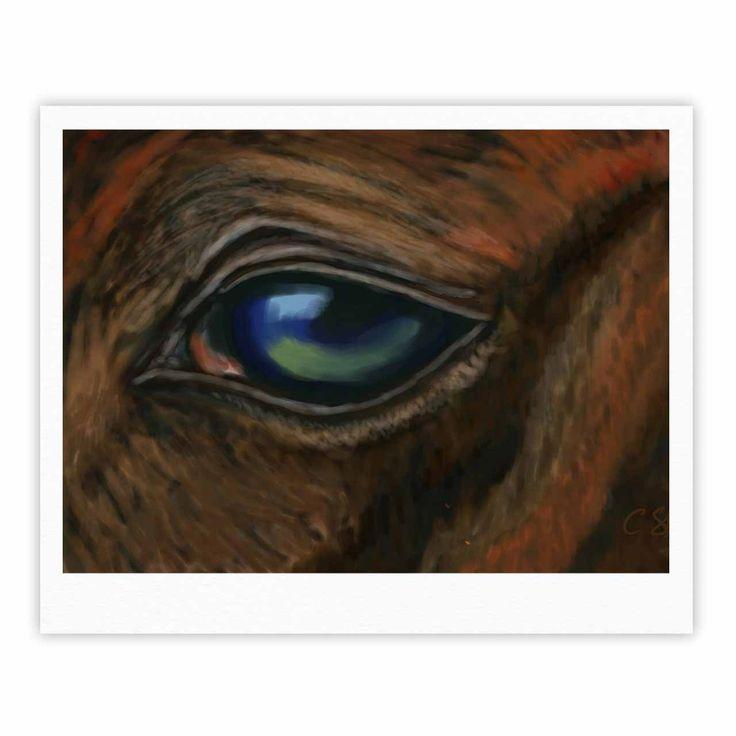 "Cyndi Steen ""Arabian Eye"" Brown Animals Fine Art Gallery Print"