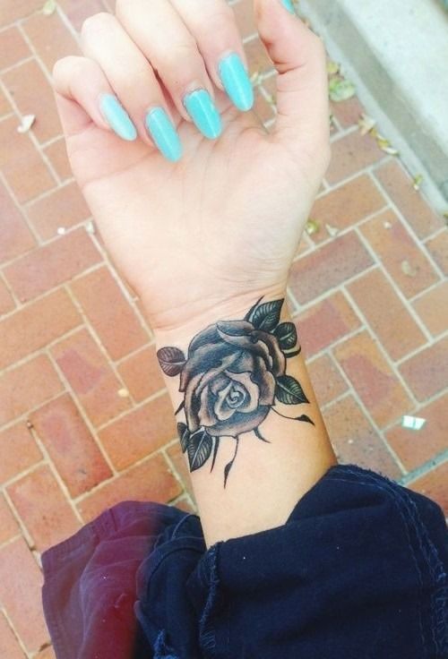 Wrist Rose Tattoos for Girls