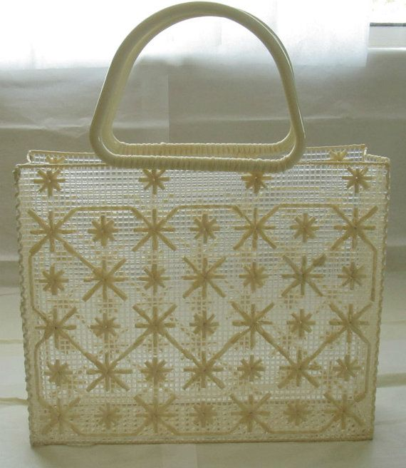 Mexican Handmade Beige and White Raffia by CraftsIdeasComeTrue, $35.00