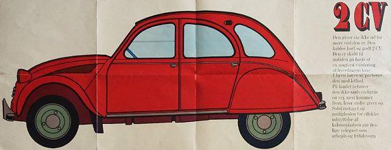 1980 2CV Citroen Advertisement  Original Vintage Poster