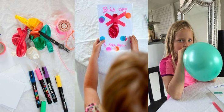 BURSDAGSINVITASJON: En pakke ballonger og en knappenål gjør susen når de kuleste invitasjonene skal lages.
