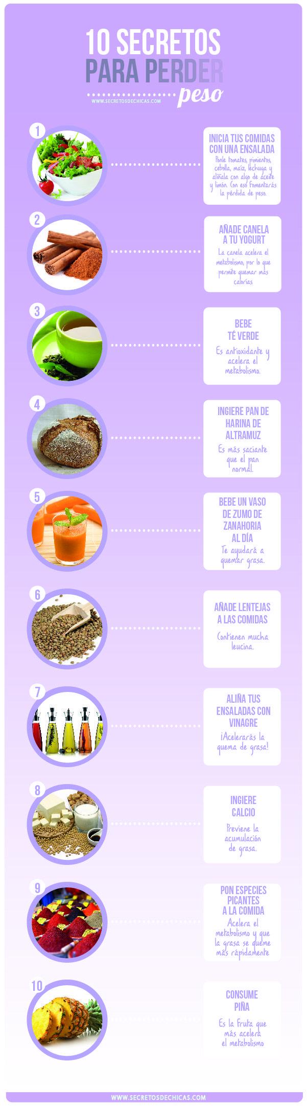 Secretos para perder peso
