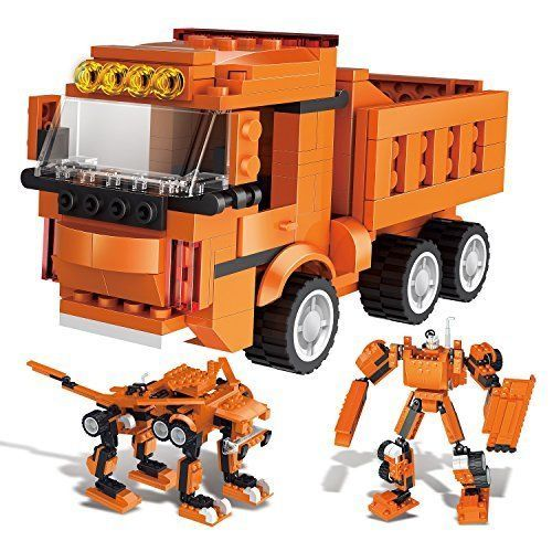 New 306 Pieces Building Blocks Dump Truck Robot Monster Bricks Construction Sets #GAMZOO