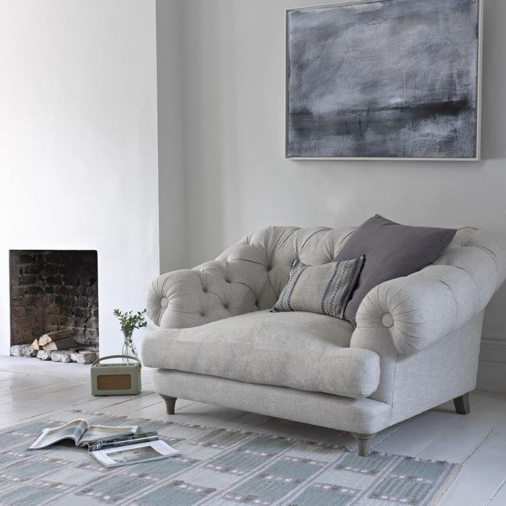 Grey arm chair, cozy reading chair