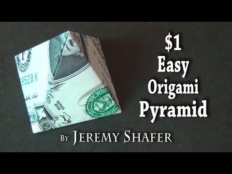One Dollar Easy Origami Pyramid - YouTube