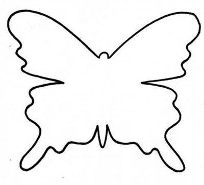 plantilla para hacer una mariposa