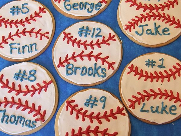 """Baseball Cookies - using the best """"no fail"""" sugar cookie recipe ever."""