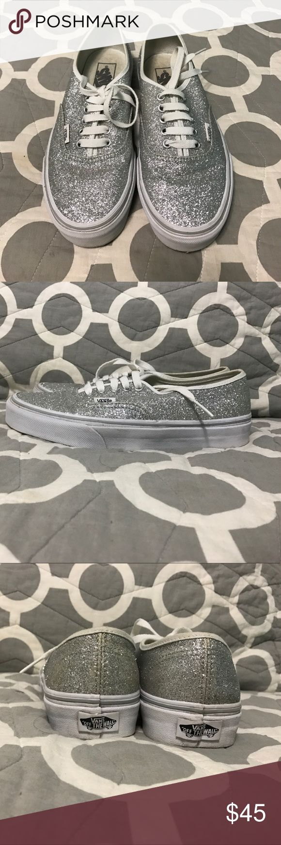 Glitter vans Only worn once. Glitter vans Vans Shoes Sneakers