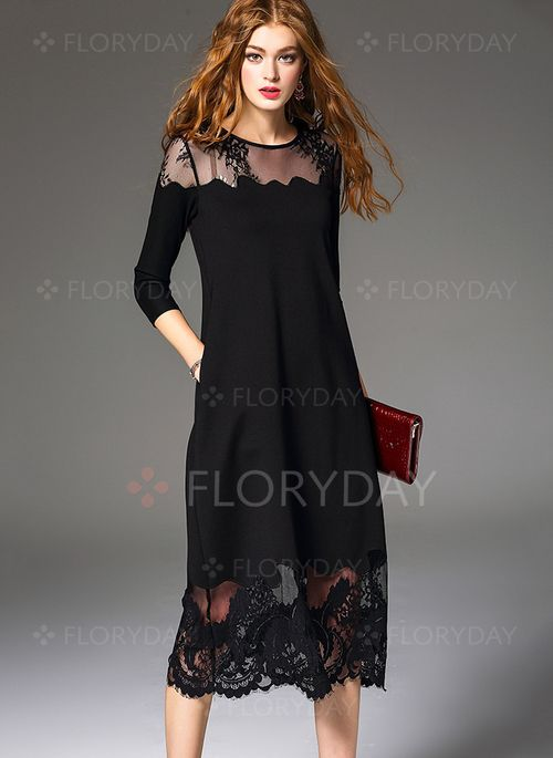 Vestidos negros lisos