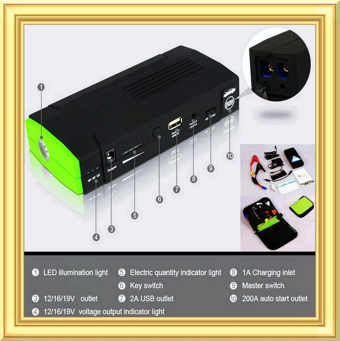 2015 Discount 13600mAh Starter automobile power supply Car emergency start power multi-function PhoneLaptop Rechargeable Battery