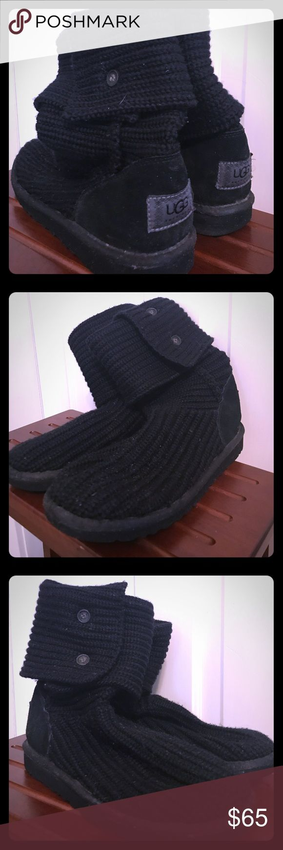 UGG Classic Cardy Boots UGG Classic Cardy style boots. Worn very few times but because it's wool, it has pilled a little over time, suede heel is like new, and bottom sole has signs of dried salt UGG Shoes Winter & Rain Boots