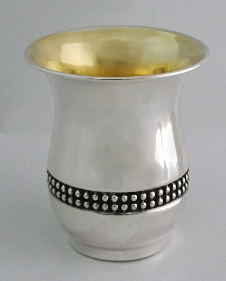 """sterling silver 925 """"Pomegranate"""" kiddush cup by STUBSILVERWARE on Etsy"""