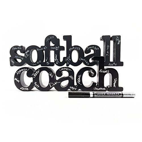Softball Coach Wood Words |Coach Gift | Room, Shelf and D...