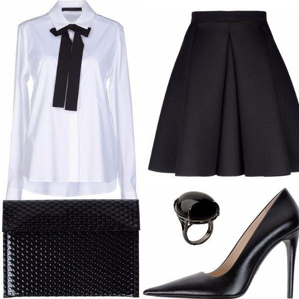 Vestito nero con camicia nera org