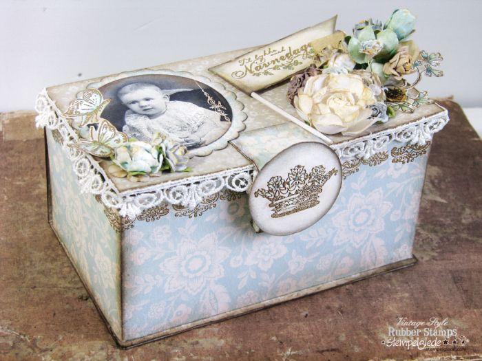 Vintage Baby Gift Box - Gunhild J. G. Bay - Stempelglede :: Design Team Blog