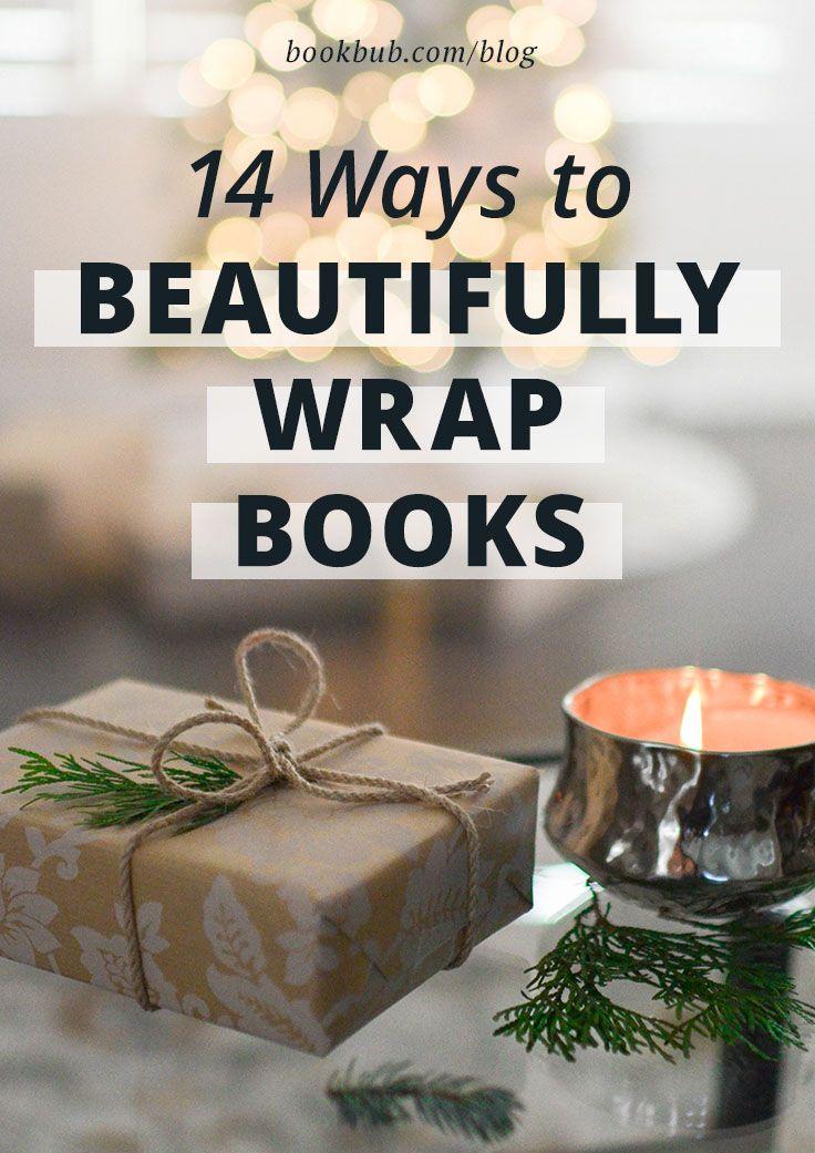 14 Innovative Ways To Gift Wrap Books Christmas Gift Wrapping Diy Gift Wrapping Christmas Present Book