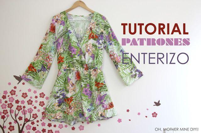 DIY Tutorial y patrones: MONO o ENTERIZO de pantalón corto y...