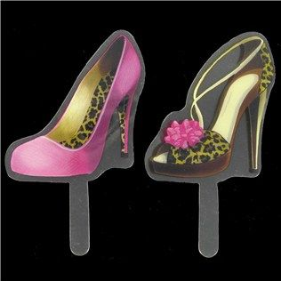 bagofchips high heel shoes plastic cupcake toppers