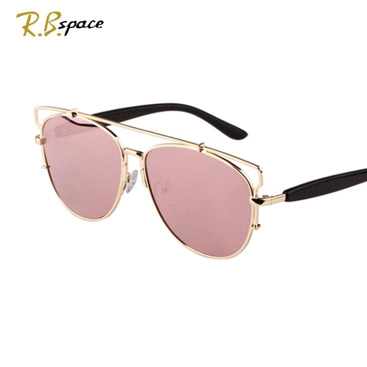 105.00$  Watch now - http://alihbp.worldwells.pw/go.php?t=32374340491 - R.B.space 2015 hot  style Sunglasses Oval big Lenses frog mirror Polarization UV400  Luxury retro women's sunglasses Unisex