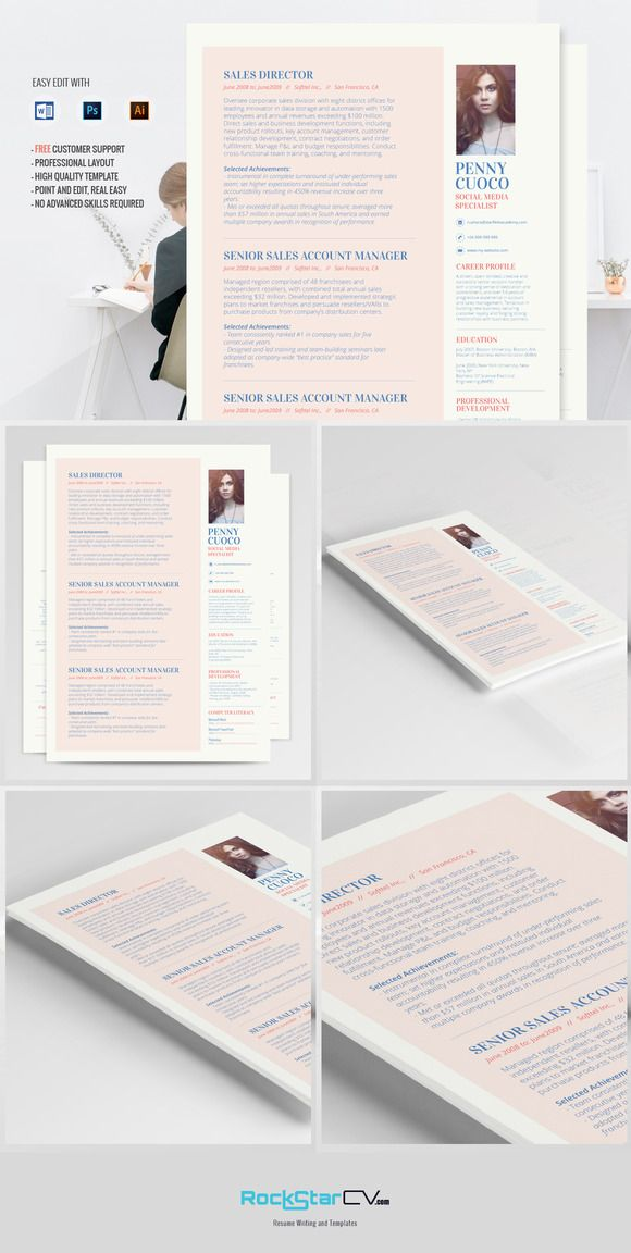 Resume Template - Alhena by Resume Templates on @creativemarket