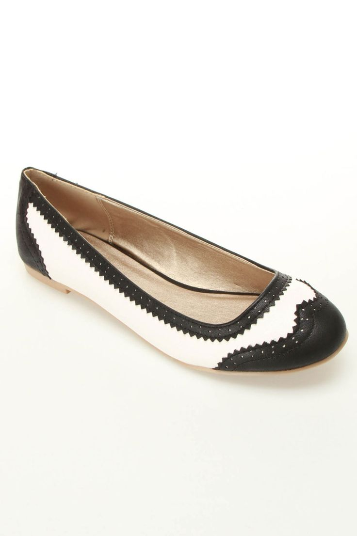 Oxford Inspired Ballet Flats.