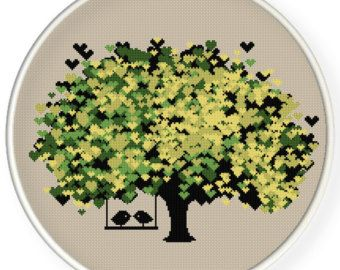 INSTANT DOWNLOADFree shippingCounted Cross-Stitch PDFLove