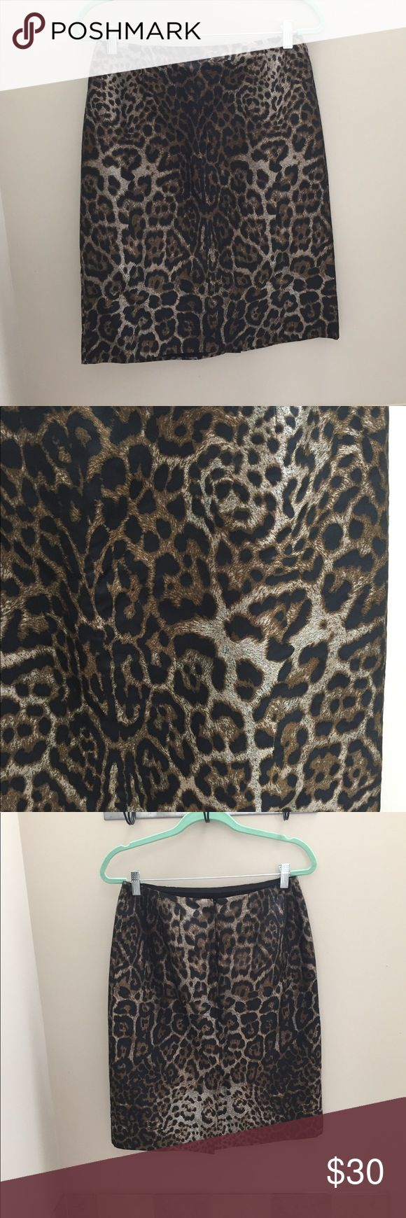 Leopard print GORGEOUS pencil skirt So pretty! Like new!! Skirts Pencil