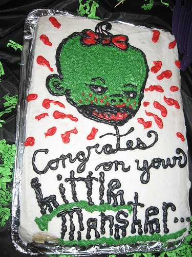 Zombie baby cake: Monster Babyshower, Shower Stuff, Litte Monster, Monsters, Baby Cakes, Baby Shower, Fizzy Party