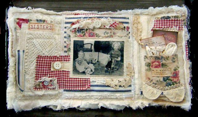 Fabric album 1 inside by yitte, via Flickr