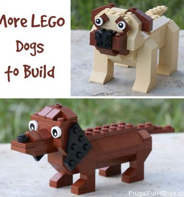 Lego dog figures - dachshound and pug // Lego kutya figurák -  tacskó és mopsz // Mindy - craft tutorial collection // #crafts #DIY #craftTutorial #tutorial #LegoBuilding #LegoCrafts #DIYLego